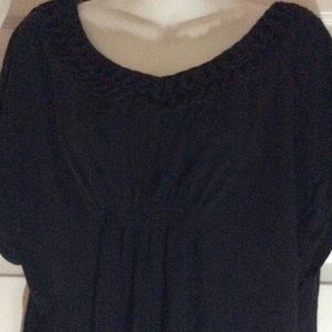 Black V-neck Blouse Merona Size XL